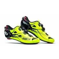 Pantofi ciclism ROAD Sidi Shot Carbon galben fluo